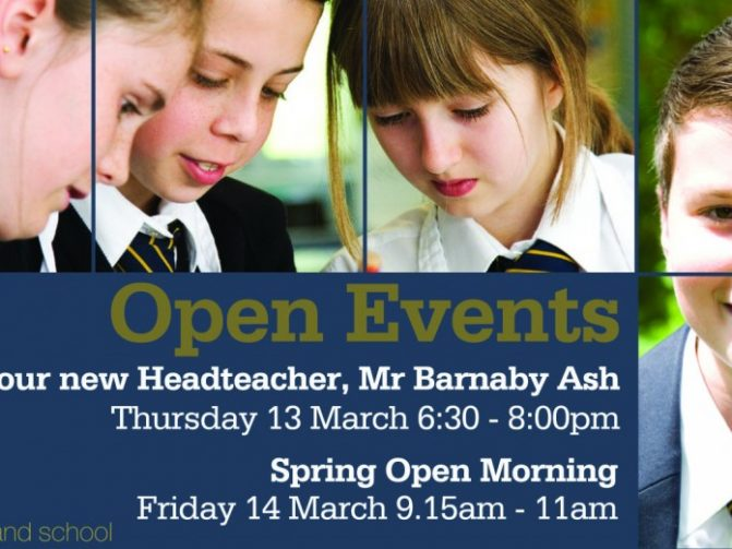 24 Feb Spring Open Events