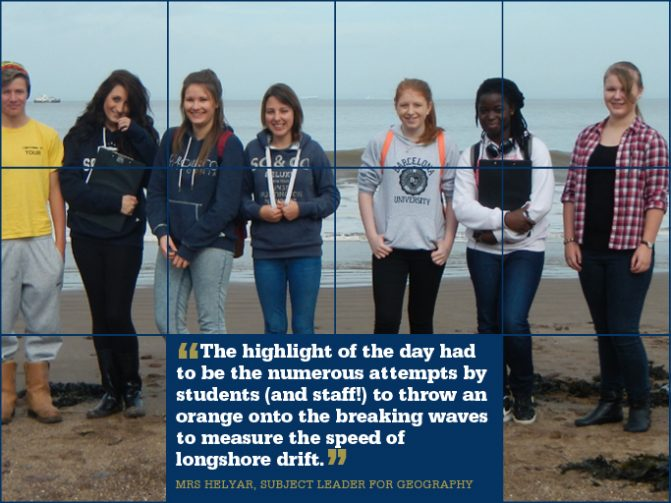 Geographers study North Somerset coast