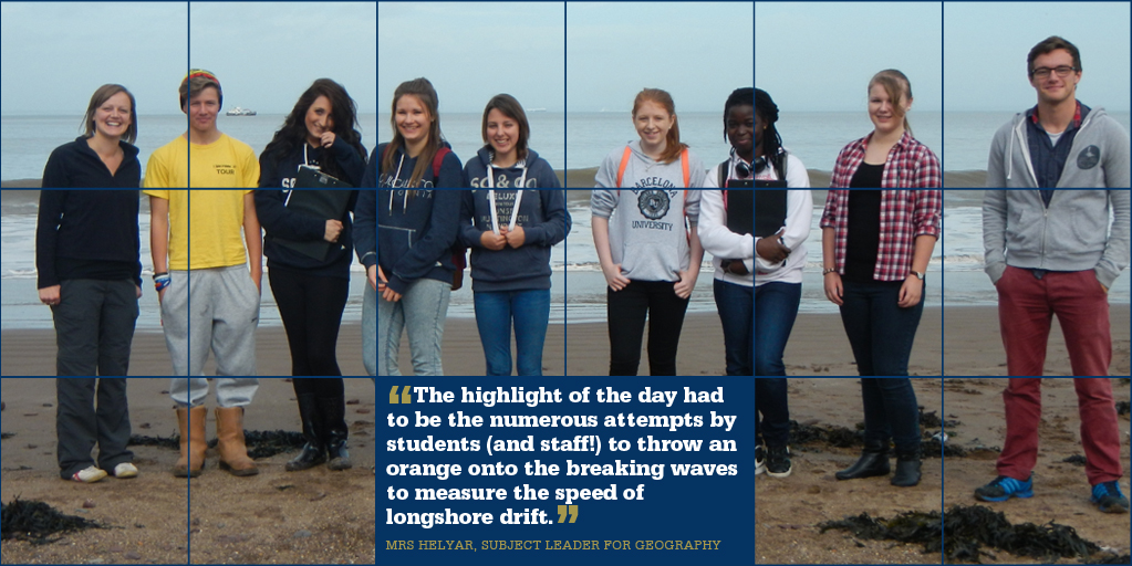 Geographers study North Somerset coast