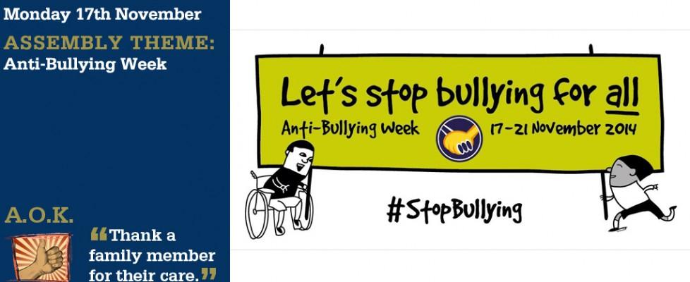 Week Beginning 17 November Anti Bullying Week