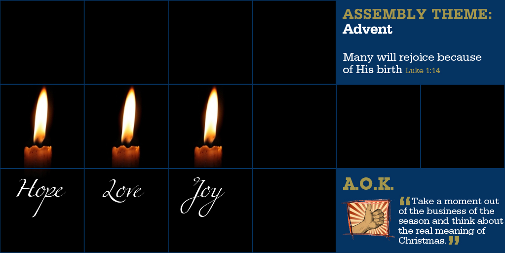 Week Beginning 15 Dec - Advent