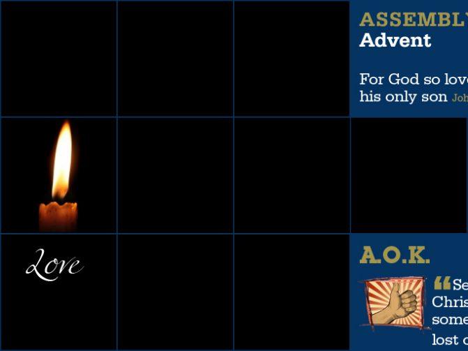 Week Beginning 8 Dec - The Celebration of Advent