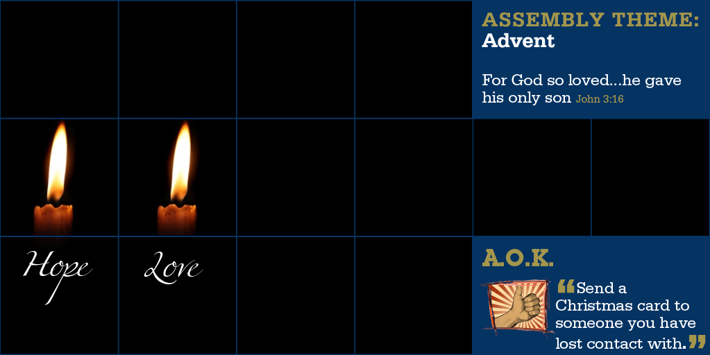 Week Beginning 8 Dec - The Celebration of Advent