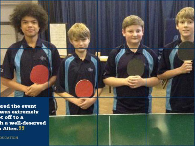 Key Stage 3 Table Tennis