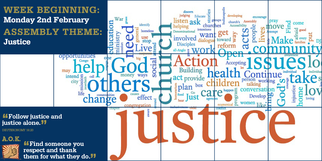 Week Beginning 2nd February - Justice