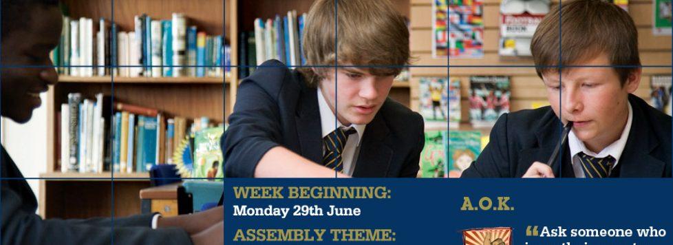 Week Beginning 29th June