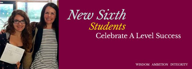 New Sixth Students Celebrate A Level Success